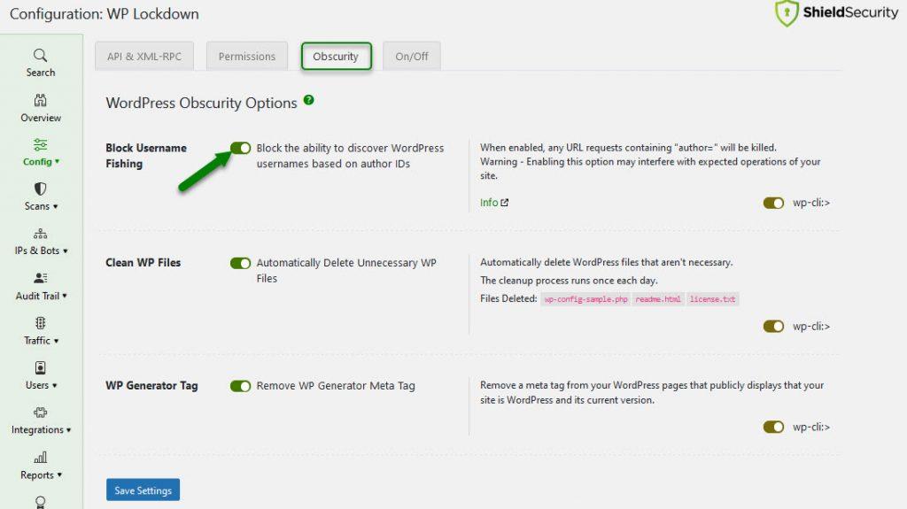 By blocking WordPress author scanning you prevent WordPress username fishing.